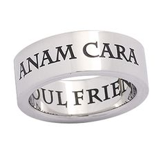 Stainless Steel Anam Cara Ring - New Age, Spiritual Gifts, Yoga, Wicca, Gothic, Reiki, Celtic, Crystal, Tarot at Pyramid Collection