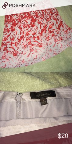 The Limited A-Line skirt Beautiful a-line skirt red floral The Limited Skirts A-Line or Full