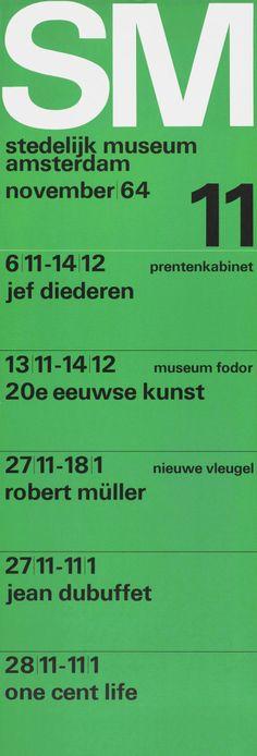 Wim Crouwel - Stedelijk Museum Amsterdam, 1964