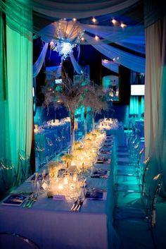 Ice themed dinner setting