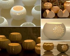 ceramic tealight holders...