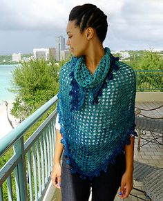 From the designer: This is the Original Pattern, copyrighted 2002, with MY instructions, that I wrote out myself. Please do not post to any other web page nor do a copy/paste (yeah, you guessed it). This is great for a shawl, for completing a square, as a filler in a diamond granny afghan, and for covering up your hair. :)