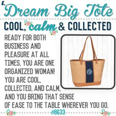 """What's your Thirty-One  purse-onality? Spring/Summer 2017 online party game   """"Dream Big Tote"""""""