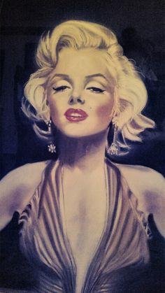 Marilyn Monroe by viva / This image first pinned to Marilyn Monroe art board here: https://www.pinterest.com/fairbanksgrafix/marilyn-monroe-art/ #Art #MarilynMonroe