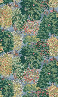 Ashdown Forest   Inspired by British woodland with a fairytale twist, our painterly enchanted forest is home to beautifully illustrated creatures who peep from the trees   Cath Kidston Autumn Winter 2016  