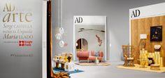 "SHIMMER low table and mirror designed by Patricia Urquiola. The actual size AD Spain cover created by Patricia Urquiola for the exhibition ARCO 2016 in Madrid - ""Vivir con Arte AD"". #patriciaurquiola #shimmer #adespana #vivirconartead #arco2016 #madrid #shimmer #glasitalia www.glasitalia.com"