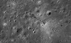 Apollo 15 landing site on the moon imaged by NASA's Lunar Reconnaissance Orbiter.  If you look close, you can see the director's chair for filming the fake version...