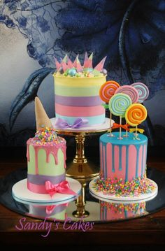 What a fun trio of cakes!                                                       …