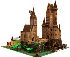 LEGO Hogwarts School of Witchcraft and Wizardry. created by David Scalone Lego Hogwarts, Legos, Lego Lego, Lego For Kids, Lego Modular, Lego Room, Lego Worlds, Cool Lego Creations, Lego Harry Potter