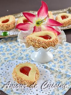 sables a la confiture de fraises - Amour de cuisine