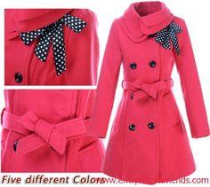Wholesale Lollipop Turn-down Collar Long Sleeve Drape Coat Women ...
