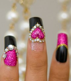 Like the colours and design, but I wouldn't use 3D things on my nails. I'd probably pick them off, haha.