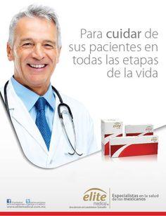 """""""Para cuidar de sus pacientes en todas las etapas de la vida""""  Línea de medicamentos genéricos que cuenta con un extenso portafolio para los padecimientos más comunes de México.   #EspecialistaSaludMx   Más información en: www.elitemedical.com.mx @elitemedicalmx"""