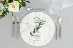 White Marble charger plate wedding decor event decor modern