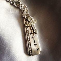 Faith stamped spoon handle pendant . $29.00, via Etsy.