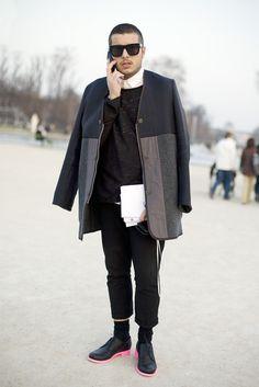 Pink Soled Jil Sander, Paris | Street Fashion | Street Peeper | Global Street Fashion and Street Style