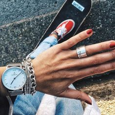 'It's time for another adventure.' Great shot with our Campus Silver Mesh watch by @allyoucanwear | kapten-son.com