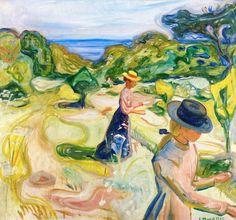 lonequixote:  In the Garden~Edvard Munch