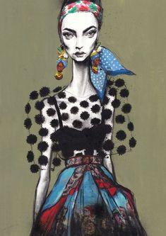 Pippa McManus, inspired by Dolce & Gabbana S/S 2013 (model: Marine Deleeuw)