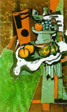 유 Still Life Brushstrokes 유 Nature Morte Painting by Georges Braque Georges Braque, Pablo Picasso, Alberto Giacometti, Francoise Gilot, Matisse, Post Impressionism, Still Life Art, French Artists, Famous Artists