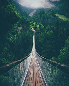Adventure bridge at Bellward, Switzerland ///