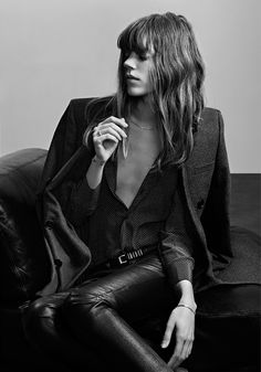 Freja Beha Erichsen for Saint Laurent. Rock and roll tux