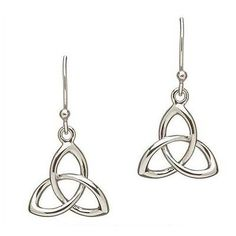 Other Celtic Jewelry 34065: Shanore Sterling Silver Trinity Knot 3D Earrings Irish Boxed BUY IT NOW ONLY: $73.0