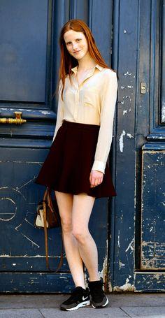 Model Magdalena Jasek, after Schiaparelli Haute Couture, Place Vendome
