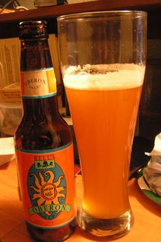 Bell's Oberon Ale is a wheat ale fermented with Bell's signature house ale yeast, mixing a spicy hop character with mildly fruity aromas. The addition of wheat malt lends a smooth mouthfeel, making it a classic summer beer. Sonia loved it. Brian did not. Oberon Beer, Bells Beer, Best Summer Beers, I Like Beer, Beer Club, Beers Of The World, Beer Recipes, How To Make Beer, Beer Bar