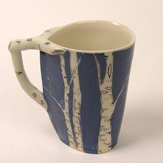 Blue birch cup