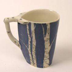 Handle compliments details of cup painting // Add some outdoor feeling to everyday cup of coffee