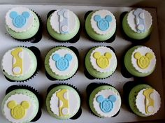 Mickey Mouse 1st birthday cupcakes