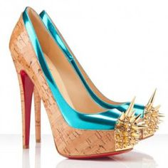 Louboutin Astéroid Dont make me mad in these shoes :) Christian Louboutin Shoes, Blue Mirrors, Spike Heels, Red Bottoms, Leather Pumps, Vera Wang, Peep Toe, Kicks, Zapatos