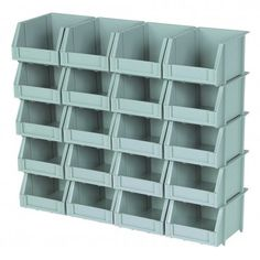 20 piece poly bins and rails: $10 at Harbor Freight