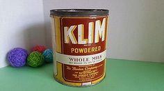 Vintage Tin Klim Powdered Milk Whole Milk 2.5 LBS Borden Company New York Canada