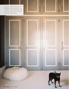 Gray Closet Doors - Design photos, ideas and inspiration. Amazing gallery of interior design and decorating ideas of Gray Closet Doors in bedrooms, closets, girl's rooms, boy's rooms by elite interior designers. Wardrobe Door Designs, Wardrobe Doors, Closet Designs, Closet Doors, Garage Closet, Cabinet Closet, Closet Wall, Laundry Closet, Closet Space