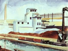 River Rouge Industrial Plant by Charles Sheeler