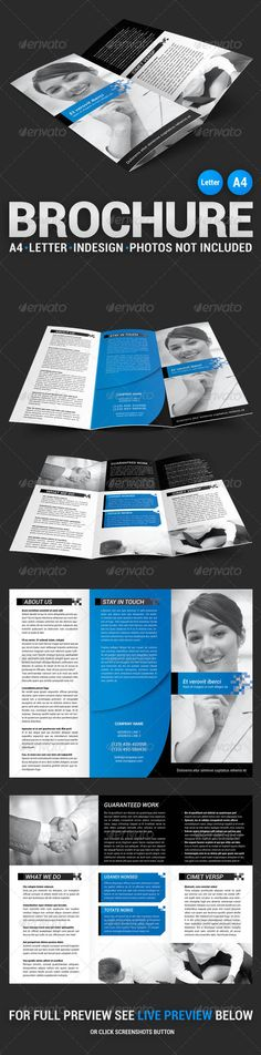Corporate Tri-fold Brochure #template #print