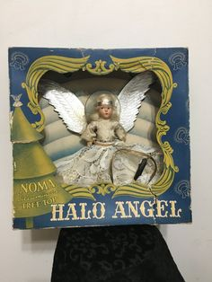 1940's Noma Halo Angel Tree Topper, Vintage Christmas Tree Topper, Vintage Christmas Tree Angel, 1940's Noma Illuminated Tree Top, 40s Angel by RetrosaurusRex on Etsy