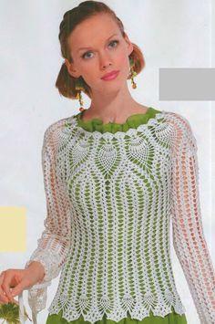 http://woman7.ru/rukol/ajurnii-koftochki-kruchkom/330-uzor-ananas-kruchkom.html  Crochet pattern pineapple