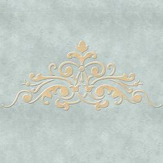 Ceiling Stencils | Avignon Center A Ceiling Stencil | Royal Design Studio