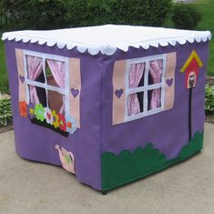 Card Table Playhouse Toy Handmade Lavender by missprettypretty, $215.00