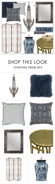 """""""Global Bazaar"""" by kathykuohome ❤ liked on Polyvore featuring interior, interiors, interior design, home, home decor, interior decorating, livingroom, Home and globalbazaar"""