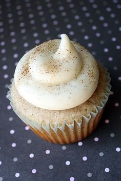 snickerdoodle cupcakes.  Delicious....I added a little bit of cinnamon to the frosting too...but next time, I'll probably add more :)