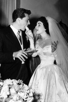 19 vintage photos from the most beautiful celebrity weddings of all time: Conrad Hilton and Elizabeth Taylor