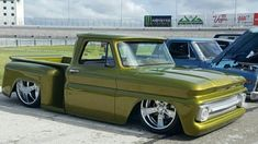 Dropped Trucks, Lowered Trucks, C10 Trucks, Old Pickup Trucks, 1963 Chevy Truck, Classic Chevy Trucks, Chevy Stepside, Chevy Pickups, Custom Trucks