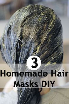 3 Simple Hair Masks DIY. And a bunch more beauty tips! Must pin!