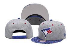 Mens Toronto Blue Jays New Era 9Fifty 2016 MLB Denim Kaleido vize Print Visor Snapback Cap - Heather Grey / Assorted