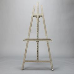 Tall Gray Painted Easel  --  Circa 1930s English standing easel with gray painted finish.  --  Item:  3769  --  Retail Price:  $695