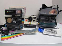 3 Vintage Polaroid Cameras One Step Express Autofocus 660 Land Camera UNTESTED #Polaroid